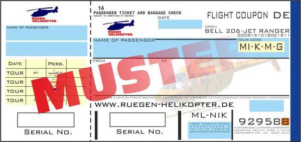 VIP Flugticket für bis zu 4 Personen Granitz-Tour (MS)